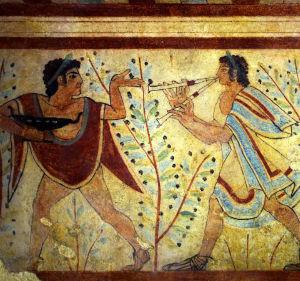Affresco Tombe etrusche Tarquinia